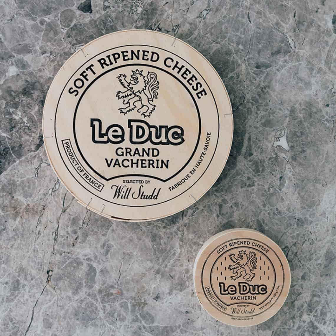 Le Duc Vacherin Will Studd Selected Cheese on grey tile