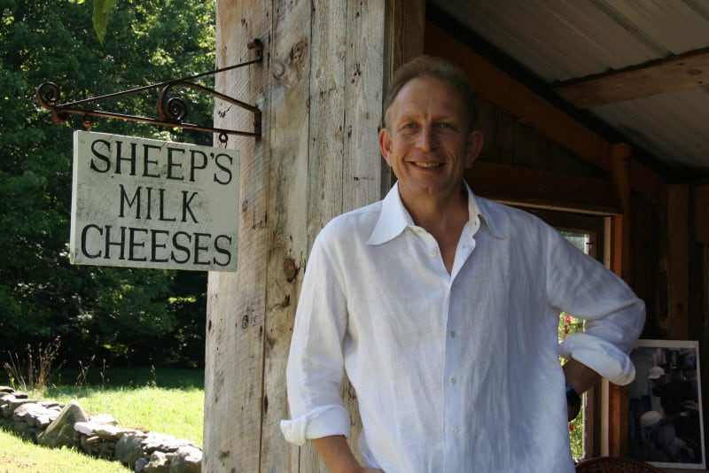 Will Studd in Vermont with a sign