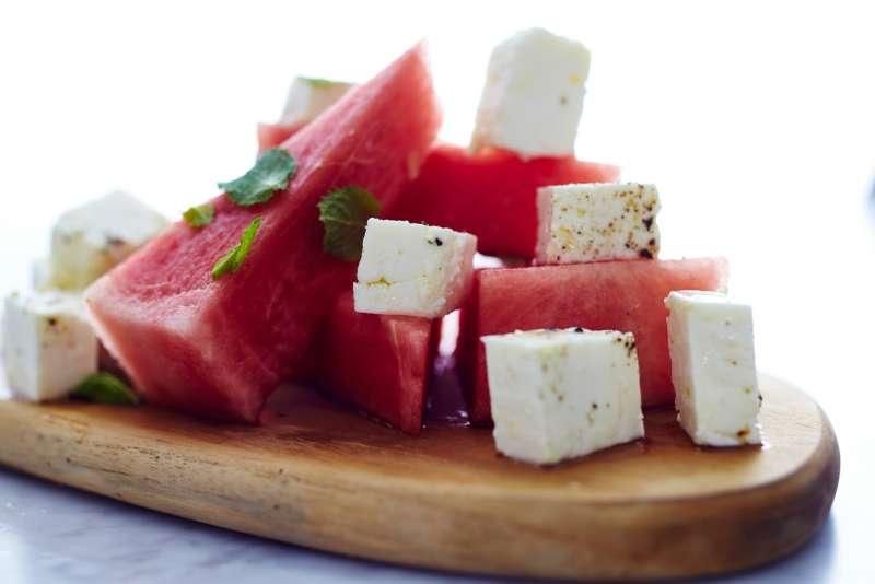 feta with watermelon