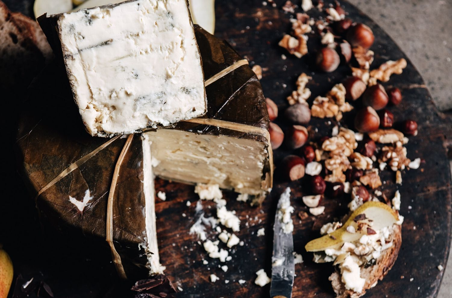 Rogue River Blue Cheese on cheese board