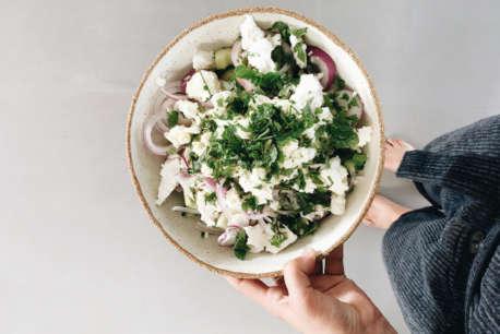 feta and cucumber salad