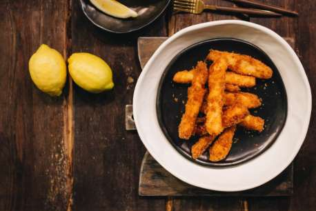 Halloumi Fries with panko crumbs