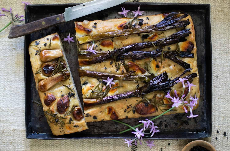 Halloumi Focattia Recipe Aphrdodite Halloumi Will Studd Selected Young Garlic
