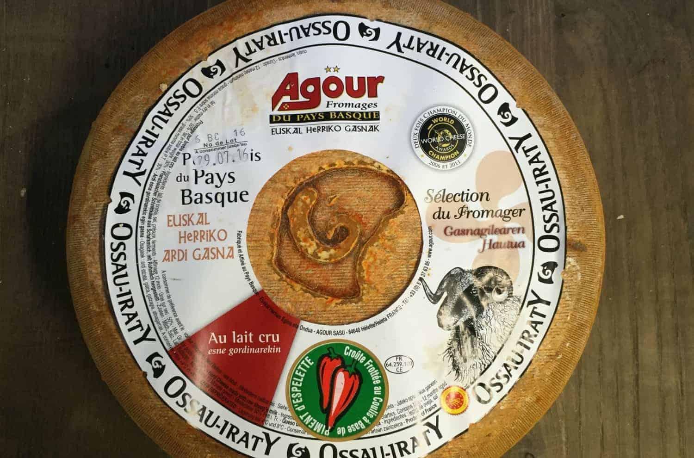 Pyrenees cheese wheel