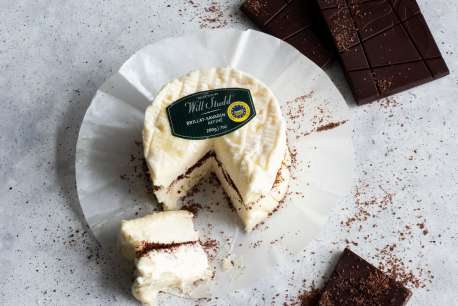 Studd Amazon Cheese Brilliat Chocolate Cut Label